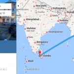 Bản đồ đường bay từ Hà Nội đi Colombo
