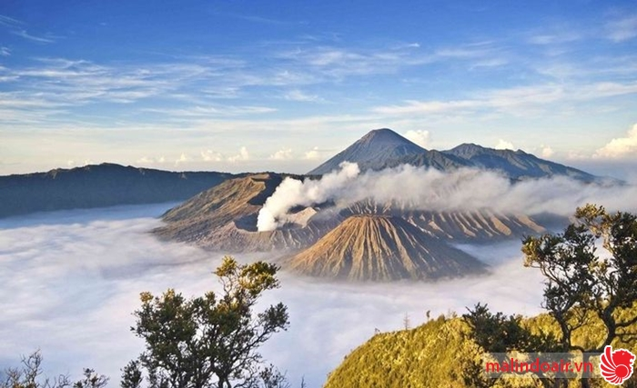 Núi nửa Bromo, Indonesia