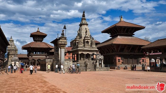 Bản đồ đường bay từ Hà Nội đi Kathmandu
