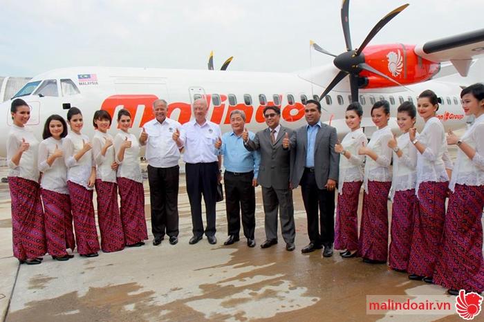 Lãnh đạo và tiếp viên hãng hàng không Malindo Air