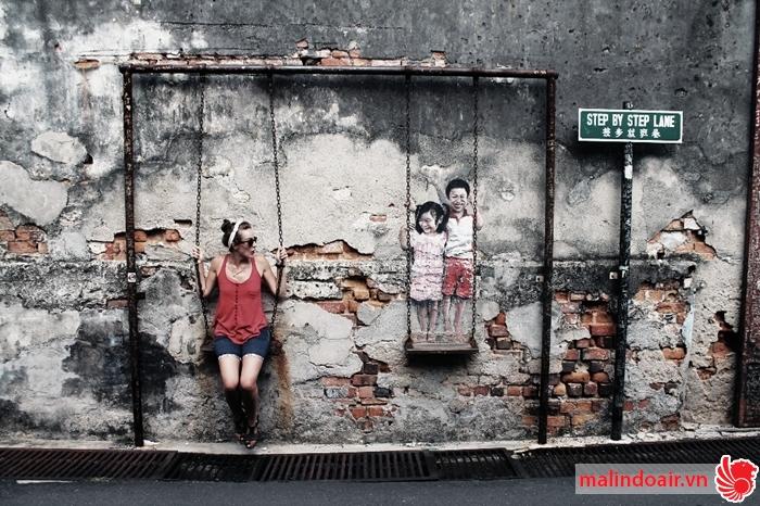 Những bức tường 3D độc đáo ở Penang