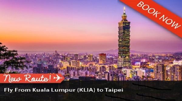 Khuyến mãi vé máy bay đi Đài Bắc của Malindo