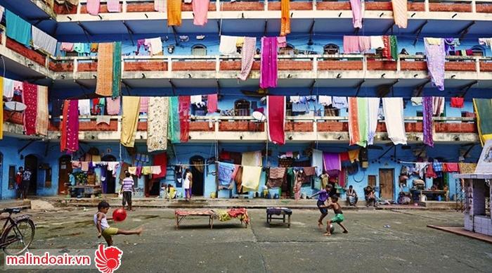 Những ngôi nhà rực rỡ sắc màu của Ấn độ