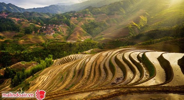 Những thửa ruộng bậc thang tuyệt đẹp ở Quế Lâm