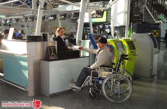 Malindo Air trợ giúp những yêu cầu đặc biệt dành cho người khuyết tật.