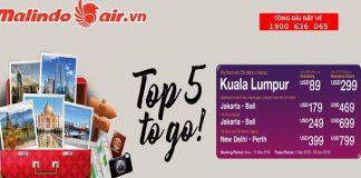 Malindo Air mở bán vé đi châu Á giá rẻ