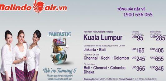 Malindo Air mở bán vé một chiều từ 41 USD