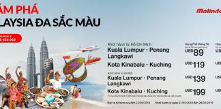 Malindo Air khuyến mại vé máy bay đi Malaysia giá rẻ
