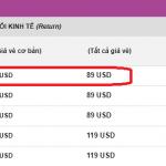 Giá vé khuyến mại khởi hành từ TP.HCM