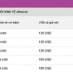 Giá vé khuyến mại khởi hành từ Hà Nội