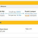 Thông tin chuyến bay đi Malaysia
