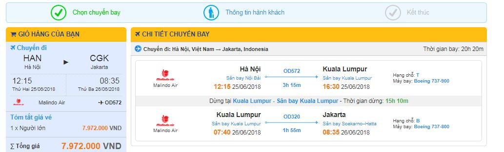 Thông tin chuyến bay
