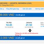 Giá vé máy bay đi Indonesia tháng 10/2018 từ các hãng hàng không