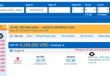 Giá vé máy bay đi Indonesia giá rẻ tháng 9/2018