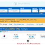 Giá vé máy bay đi Malaysia tháng 10/2018 từ các hãng hàng không
