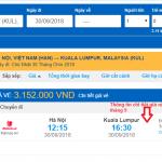 Giá vé máy bay đi Malaysia giá rẻ tháng 9/2018