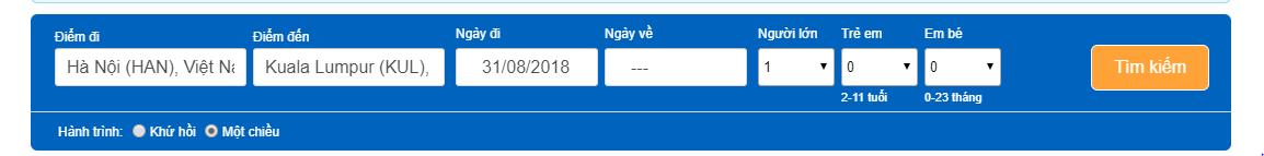 Giá vé từ hãng Malindoair đi Malaysia