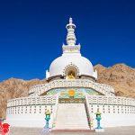 Tòa tháp trắng Shanti Stupa