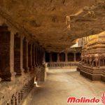 chính điện là tượng con bò Nandi, nó chính là vật cưỡi của thần Shiva