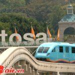 bạn có thể di chuyển bằng tàu điện Express để đến Sentosa
