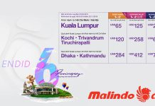 Vé khuyến mãi chỉ từ 65$ từ Malindo Air