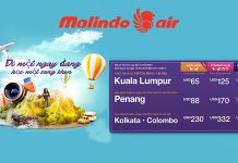 Vé máy bay khuyến mãi Malindo Air tháng 5