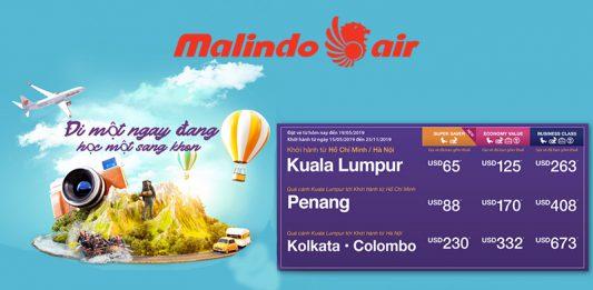 Vé máy bay khuyến mãi Malindo Air tháng 5